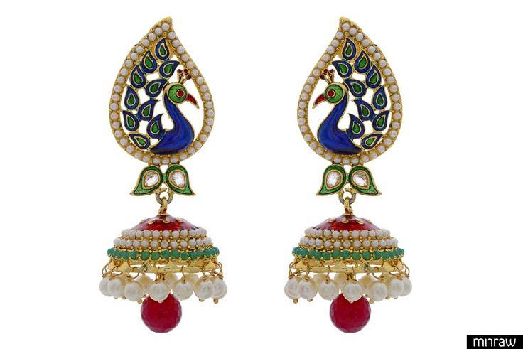 Beautiful peacock style earrings