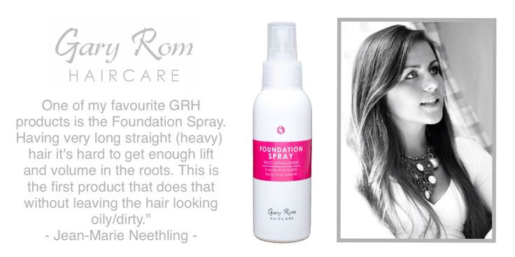 Foundation Spray by Gary Rom Haircare loves Jean-Marie, and Jean-Marie loves Foundation Spray - visit www.garyromhaircare.co.za to order yours