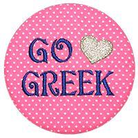 Go Greek - Pink Polka Dot