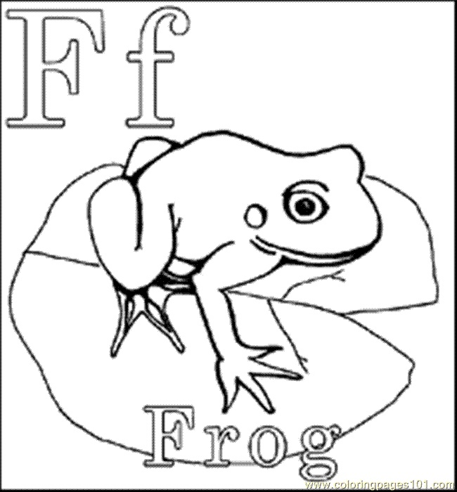 Funny Frogs Alphabet Coloring Pages For Kids Letters