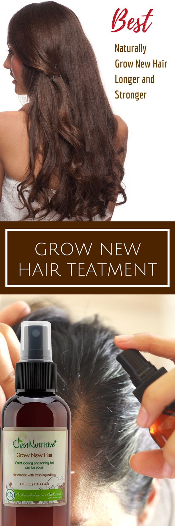 Grow fuller more voluminous looking hair and thicken each individual hair strand...