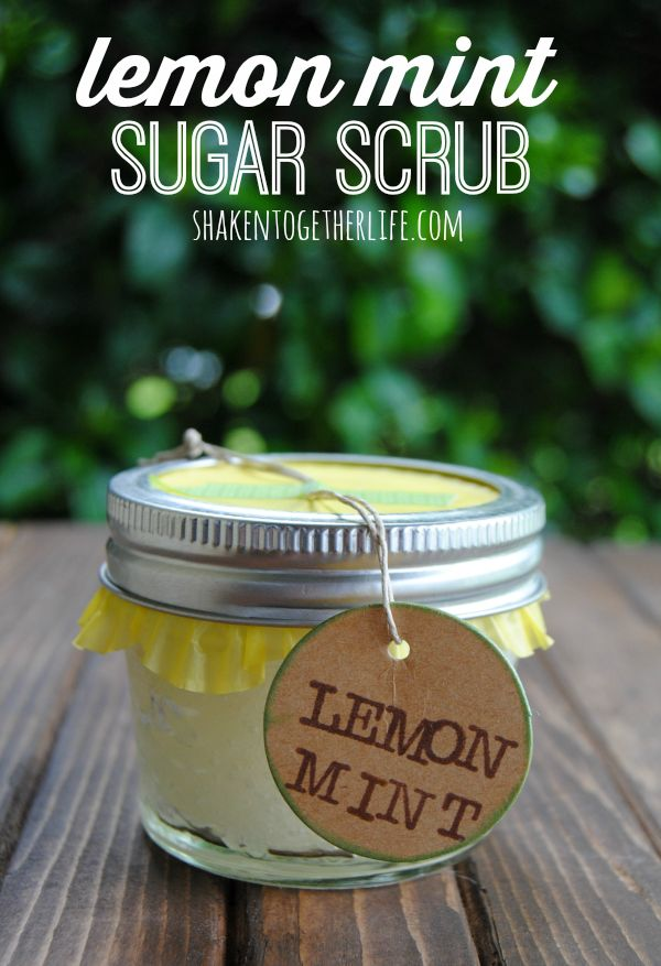 Lemon mint sugar scrub - 5 ingredients and great for gifts!