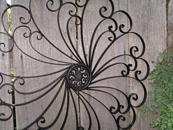09e2299f76 Large Wrought Iron Wall decor / Metal Wall decor by Theshabbyshak ...