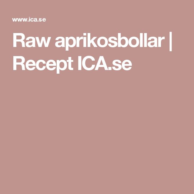 Raw aprikosbollar | Recept ICA.se