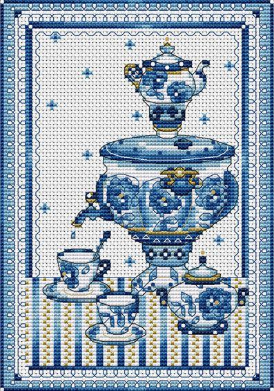 Traditional porcelain. Роспись Гжель, чаепитие, уют тихого вечера - то настроение которое несет в себе этот дизайн.
