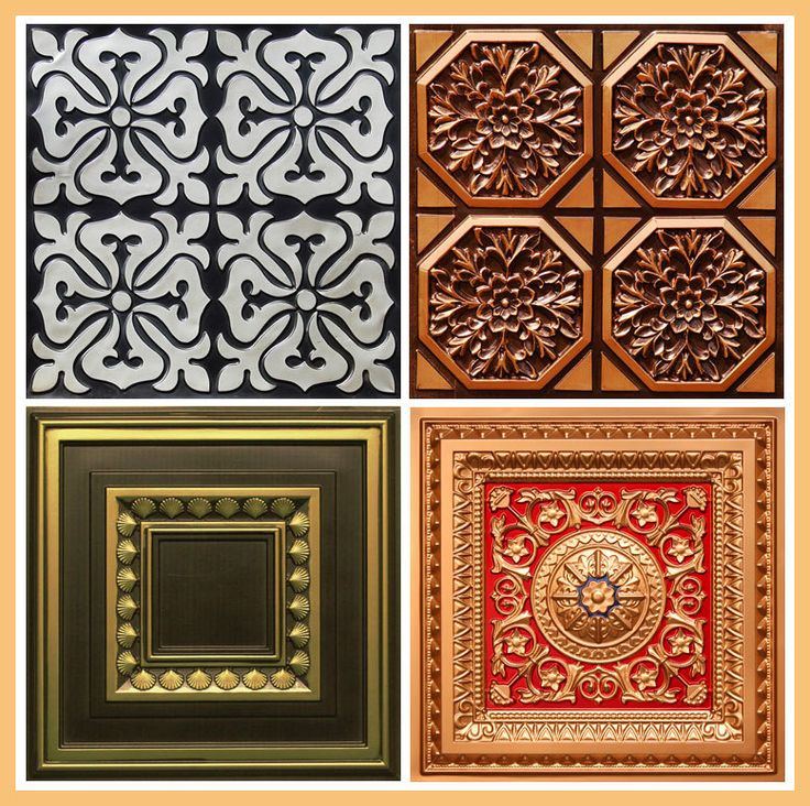 Sample Pack of Hand Painted Styrofoam Ceiling Tiles