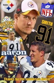 Aaron Smith played for the Bears from 1994-1998 before being drafted by the Pittsburgh Steelers (4th Round) in the 1999 NFL Draft. He earned a Pro Bowl spot in 2004 and won two Super Bowls before retiring in 2012.