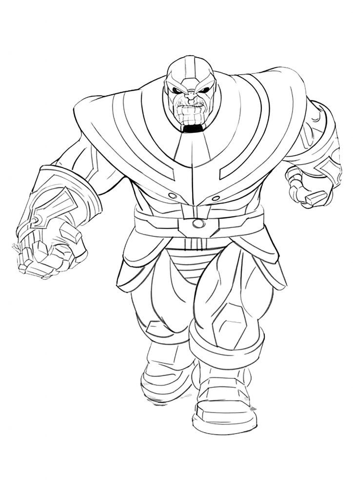 Thanos Coloring Pages Avengers Coloring Pages Avengers Coloring