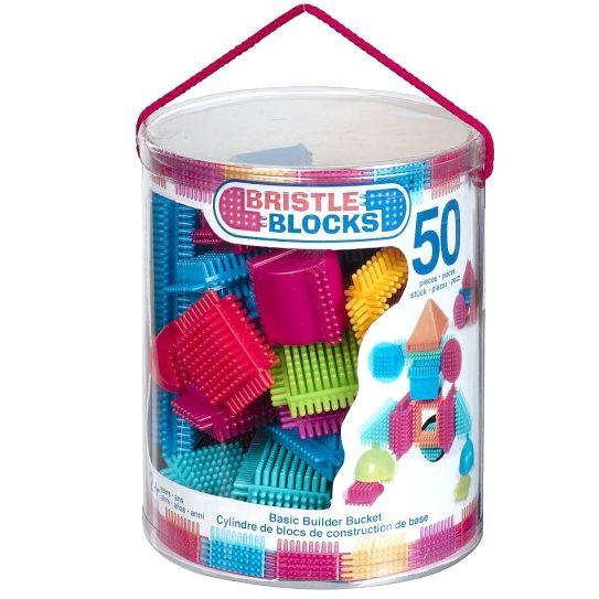Bristle Blocks: klocki jeżyki Basic Builder Bucket 50 el., 59 zł