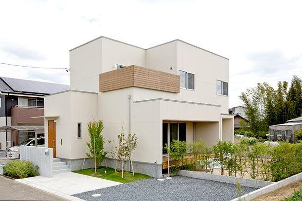 白、木、グレーを基調とした家・間取り(愛知県)  ローコスト・低価格住宅   注文住宅なら建築設計事務所 フリーダムアーキテクツデザイン