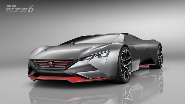 Peugeot has unveiled the Vision Gran Turismo virtual racer for the Gran Turismo 6 video game.