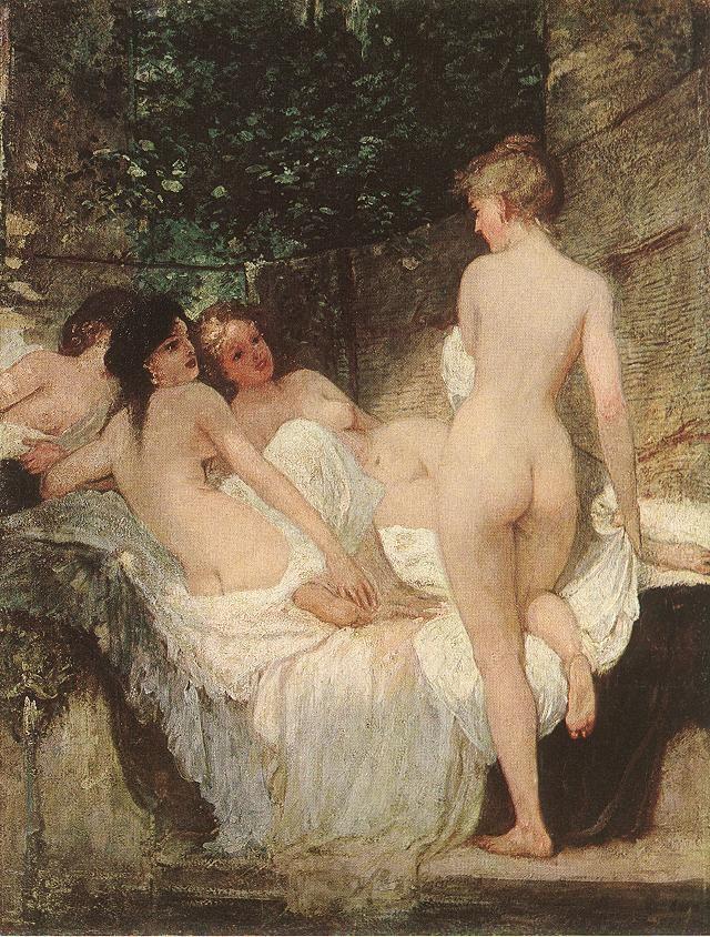 Károly Lotz (1833-1904) After the Bath 1880 - Lotz Károly (festő) – Wikipédia  (Fürdő után, MNG)
