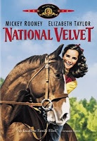 1944  Though National Velvet was the first starring role for 11-year-old Elizabeth Taylor, the early part of the film belongs to Mickey Rooney.   Mi Taylor was a young wanderer  leads him to the quiet English country-side home of the Brown family. The youngest daughter, Velvet, has a passion for horses and when she wins the spirited steed Pie in a town lottery, Mi is encouraged to train the horse for the Grand National - England's greatest racing event.