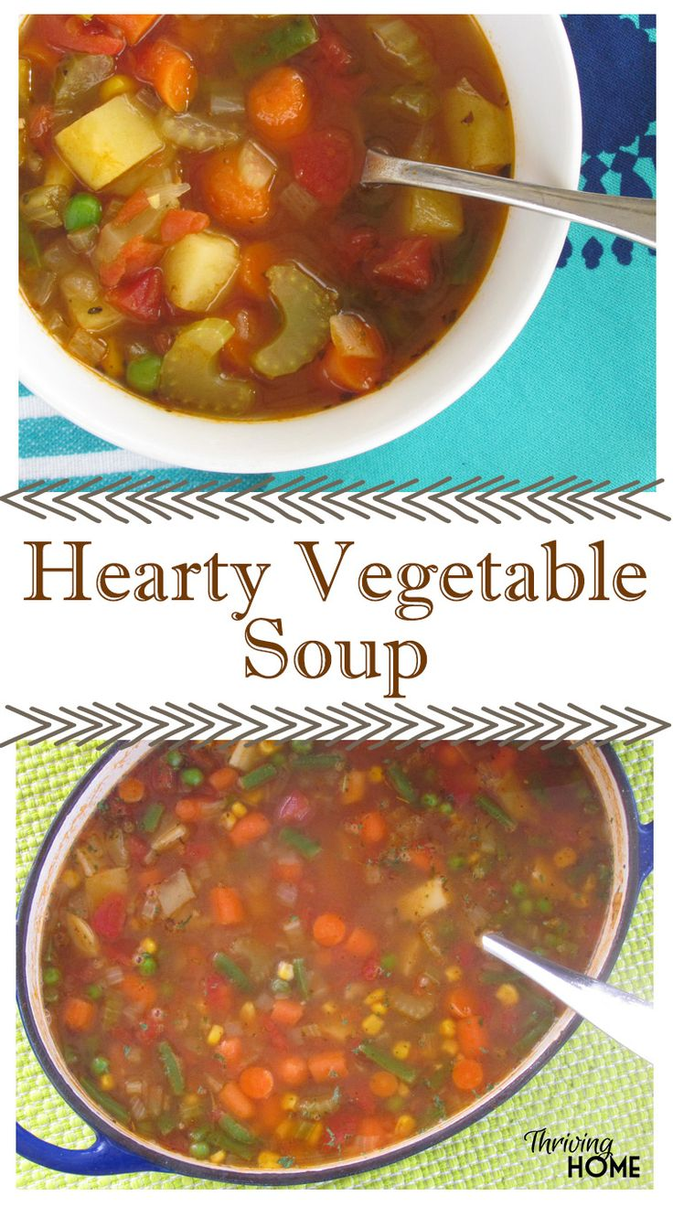 Clean out your fridge by quickly whipping up a pot of this nutritious, filling and warming Hearty Vegetable Soup. Then, eat on it all week long for one of the healthiest and cheapest meals you can make.