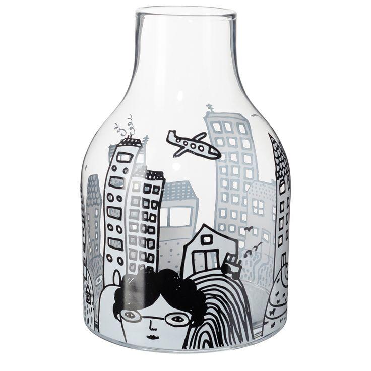 Glassware City Vase Front