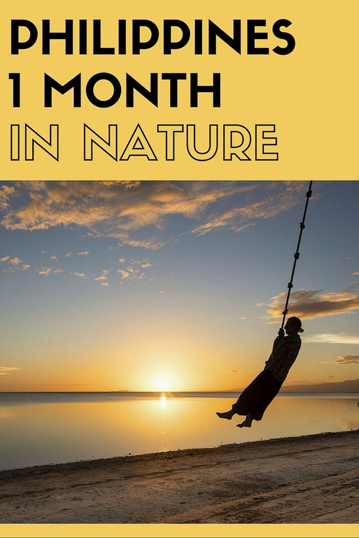One month nature itinerary around the Philippines, including five different islands and tips on where to stay in Manila and Cebu