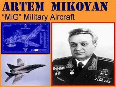 Artem Mikoyan. creator of Soviet  Mig fighters