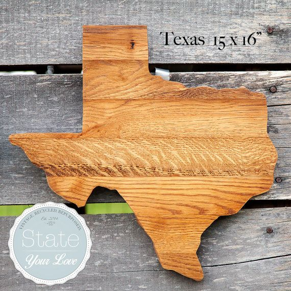 Texas state shape wood cutout sign wall art with star or for Rustic floors of texas