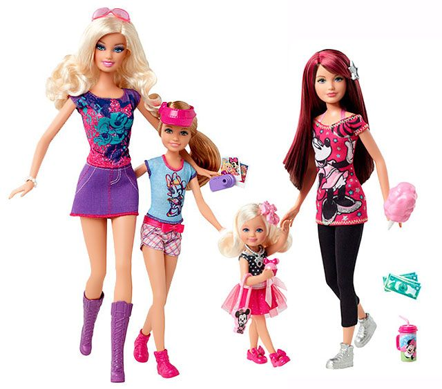 Barbie Loves Disney dolls (Barbie, Stacie, Kelly, Chelsea) 2012