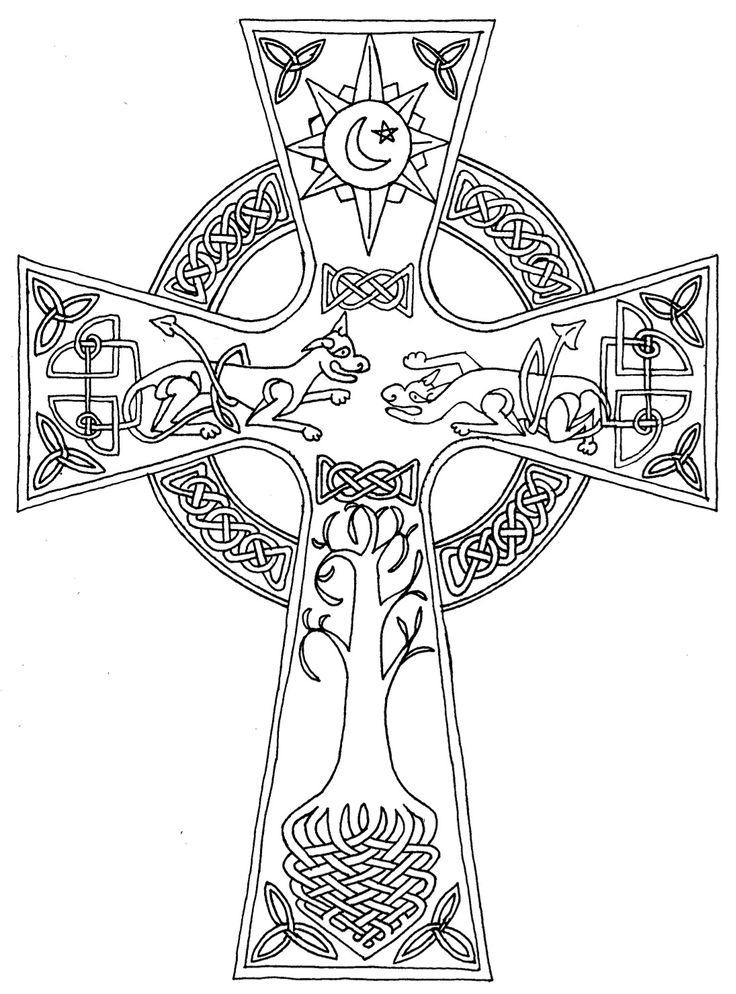 I really like this. The mythology inlaid in the cross is neat. I should really buff up on my Celtic mythology...