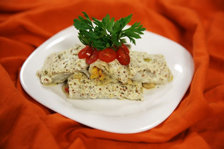 Vegán töltött tekercs NoCarb lasagne tésztából   Klikk a képre a receptért!