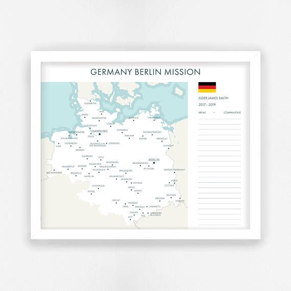 LDS Missionary Map Digital File Custom LDS Mission Map
