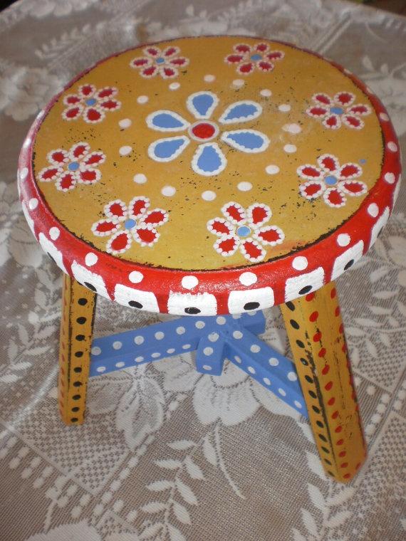 painted stool