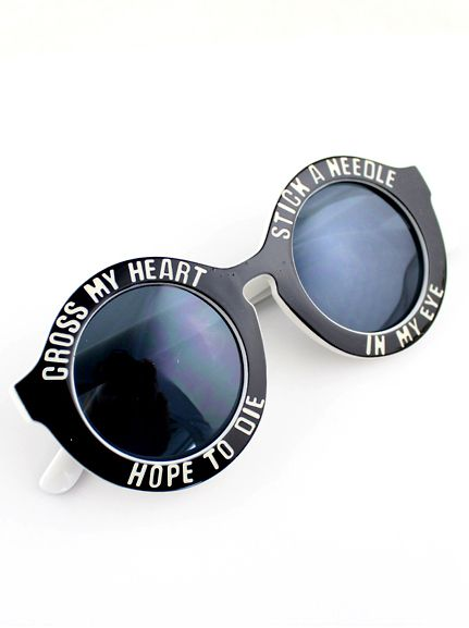 Shop Black Letters Print Round Sunglasses online. SheIn offers Black Letters Print Round Sunglasses & more to fit your fashionable needs.