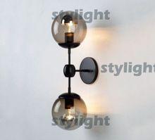 2 главы modo стены бра современный стеклянный шар настенный светильник modo настенный светильник современное освещение кафе лампы гостиная столовая лампы