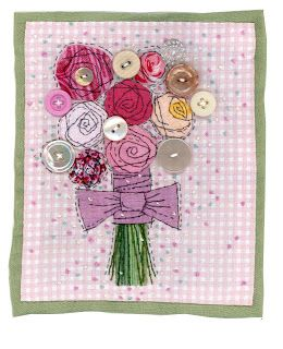 Sharon Blackman   Lots of current style fabric collages
