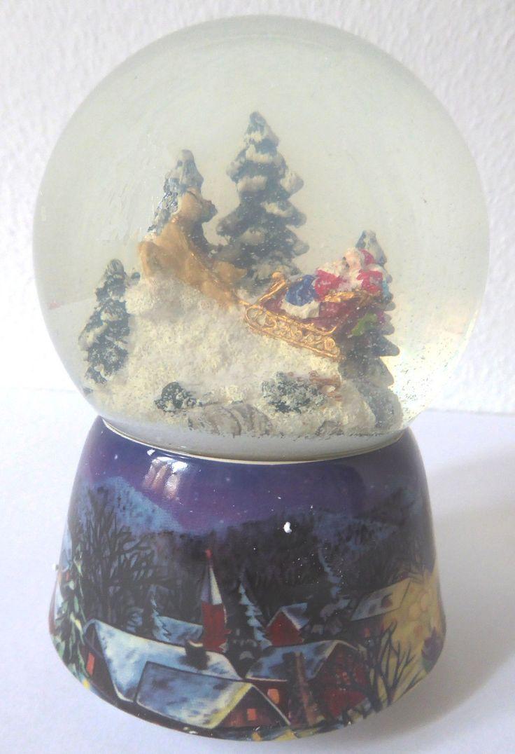 Spieluhr Schneekugel Weihnachtsmann Schlitten Kutsche Santa Claus Sonderpreis • EUR 26,99 - PicClick DE