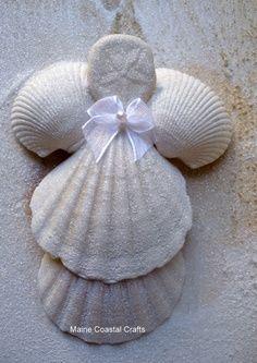 Seashell Crafts to Make | Seashell Angel Crafts | Seashells and ... | I Want to Make This!!!