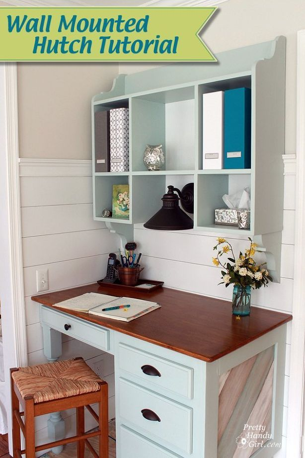 wall mounted kitchen hutch verticalspace, how to, painted furniture, storage ideas, woodworking projects