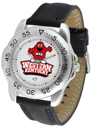Western Kentucky Hilltoppers Men's Sport Watch with Leather Band