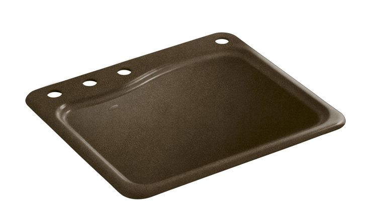 River Falls Top-Mount Utility Sink with 4 Faucet Holes - 3-Holes On ...