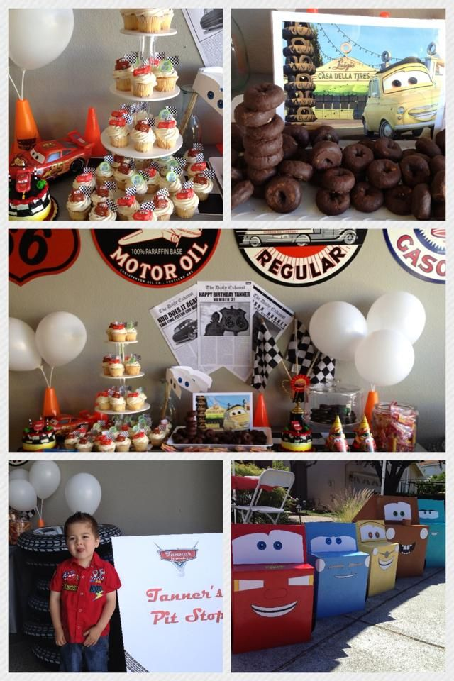 Tanner's 3rd birthday party and decorating ideas - Disney / Pixar Cars & Radiator Springs, featuring Lightning McQueen - Follow this blog on Our Mom Rocks https://www.facebook.com/ourmomrocks/ and at www.OurMomRocks.com