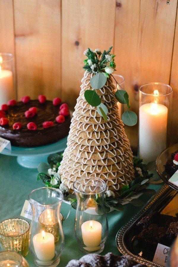 Norwegian wedding cake | Photo by Melissa Ergo