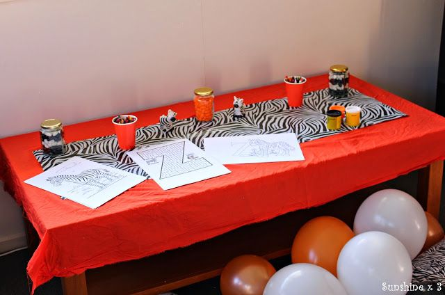 Zebra Party - activity table