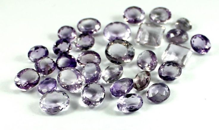 201ct / 30pcs Natural AA+ Purple Amethyst Quartz Loose Gemstone Wholesale Lot
