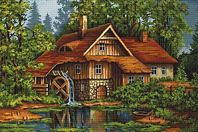 Old House in the Forest Needlepoint Kit By Luca S