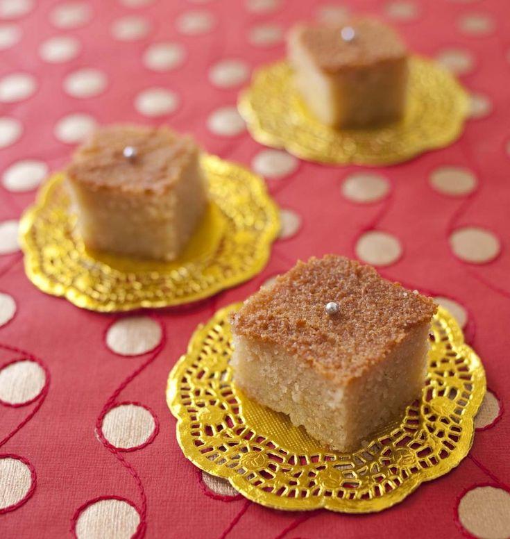 Bassboussa au yaourt (gâteau de semoule et fleur d'oranger) - les meilleures recettes de cuisine d'Ôdélices