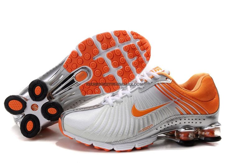 Nike Shox NZ, Nike Shox Shoes Womens Nike Shox White Orange Metallic Silver  [Womens Nike Shox - Beautiful Womens Nike Shox White Orange Metallic Silver  ...