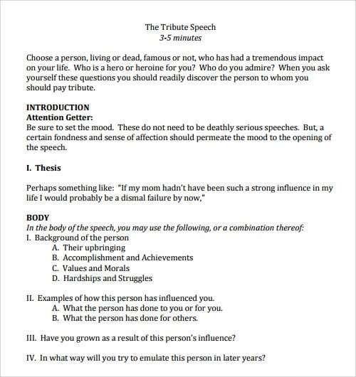 Salutatorian Speech Example 4 Templates