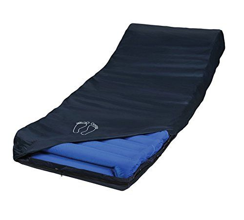 alternating pressure low air powered mattress from medical supply provides homecare wound treatment and prevention for decubitus ulcers
