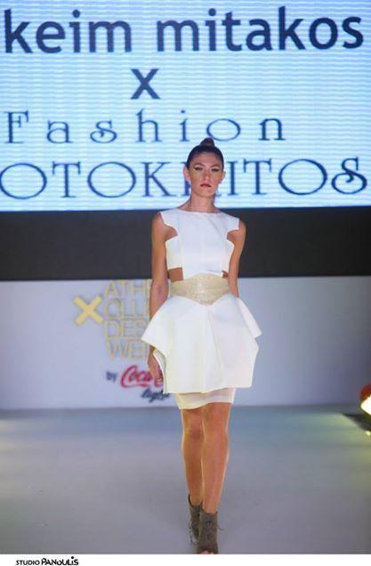 New Designer I. Mitakos X F. Erotokritos and their show at the AXDW New Designers Awards by Coca-Cola light
