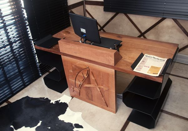 A real man's table by Mike van Heerden, via Behance