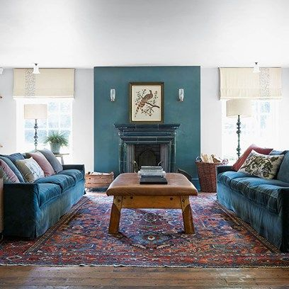 Turquoise Accents In Living Room