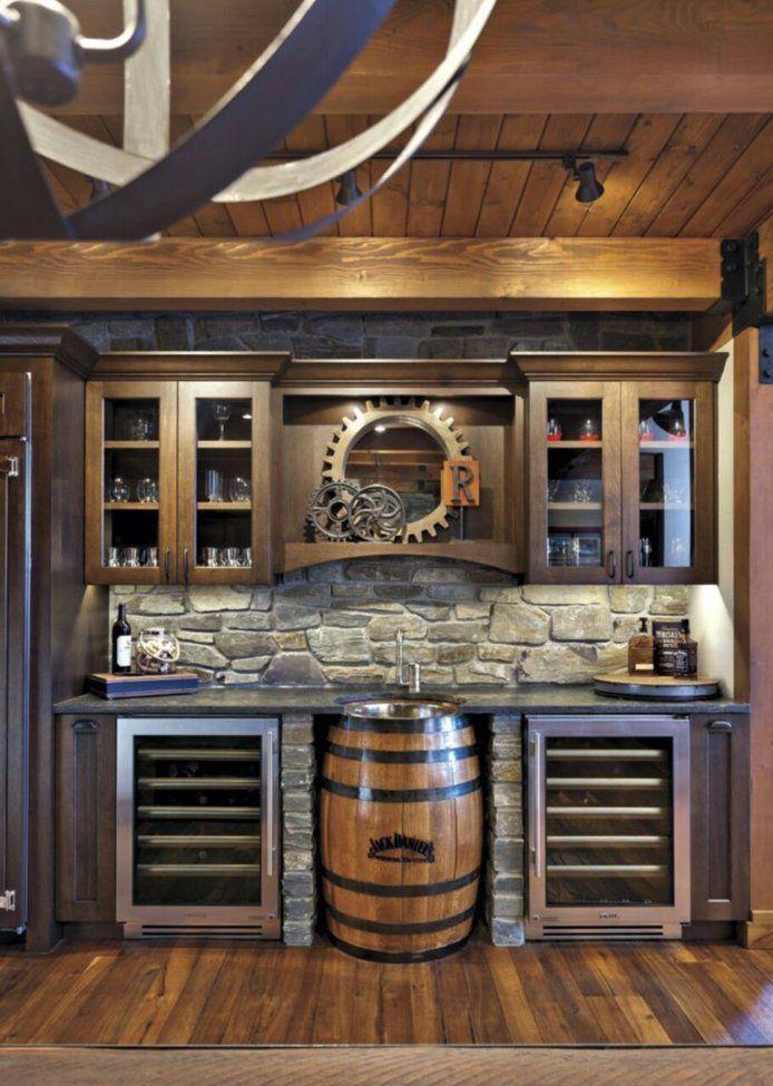Drink Station In 2019 Bars For Home Barrel Sink Man Cave