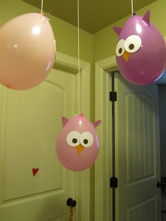 Globos buho. owl party