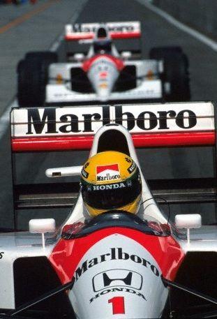 Ayrton Senna and Gerhard Berger - 1991, in the Marlboro McLaren MP4.